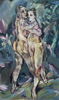 "Oskar Kokoschka's ""Two Nudes (Lovers).''"